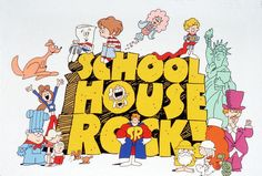"thats-the-way-it-was: January 6 1973: ""Schoolhouse Rock!"" - a series of animated musical educational short films that aired Saturday mornings, premieres on ABC Television. Photo: ABC via Tumblr"