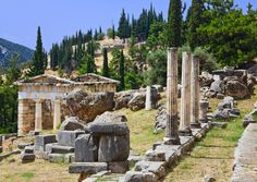 the archaeological site of the Oracle of Delphi