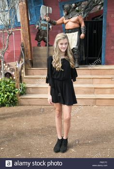 Download this stock image: Celebrities attend the Goosebumps Red Carpet Premiere at Westwood Village Theatre.  Featuring: Lizzy Greene Where: Los Angeles, California, United States When: 04 Oct 2015 - F62C7C from Alamy's library of millions of high resolution stock photos, illustrations and vectors.
