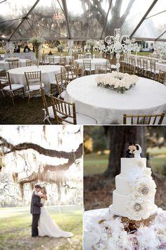 modern outdoor elegance.   #wedding