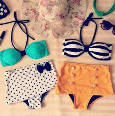 Live Fabulously Boutique - Vintage High Waisted Bikini