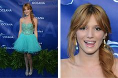 Bella Thorne's blue carpet look