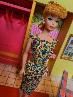Barbie Vintage Repro Double Date Set Doll Outfit Red One Piece Swimsuit /& Shoes