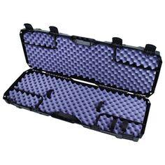 Rifle Hard Case Gun Carry Pack Straps Magazine Holder Safety Latches Storage #RifleHardCase