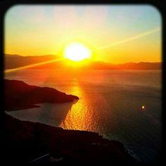 #sunset #sea #Greece #Crete - @nicos_greece- #webstagram