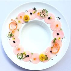 Pink Daikon radishes.