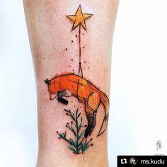 #tattooistartmag #tattooworkers #tattooart #tattoodesigns #fox #foxtattoo #littleprince #littleprincetattoo