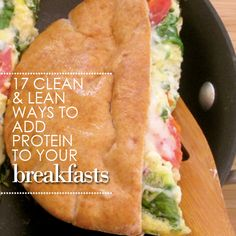 These 17 clean and lean ways to add protein to your breakfasts will prevent you from indulging in unhealthy mid-morning snacks, and will help your body to build lean calorie-burning muscle. #protein #breakfast #healthyideas