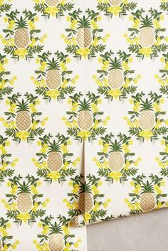 Rifle Paper Co. for Hygge & West Pineapple Welcome Wallpaper #anthroregistry