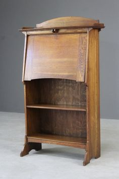 Bookcases Forceful Antique Bookcase In Solid Oak Circa 1900 Edwardian (1901-1910)