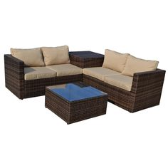 Get ready to spend a great deal of time outside with this furniture set. Weather-resistant polyethylene wicker combined with washable, high-quality cushions will keep this set looking vibrant and stunning season after season.