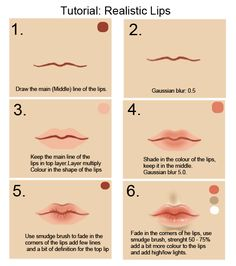 Tutorial: Lips by cgart4u.deviantart.com on @deviantART