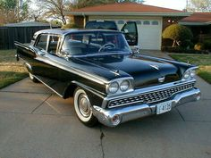 1959 Ford Galaxie 500 Photo ~ Pin 1959 Ford Galaxie Skyliner Coupe Blueprint on Pinterest