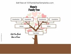 26 best family tree templates images in 2018 free family tree
