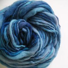 "OffTheHooks ""Atlas"" hand-dyed hand-spun thick merino art yarn."