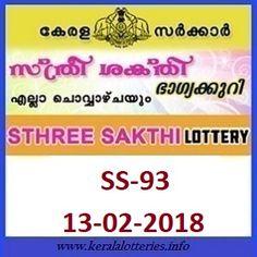 Kerala Lottery Result Sthree Sakthi SS104 Today