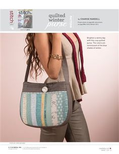 Pattern pieces only: Quilted Winter Purse - Media - Sew Daily