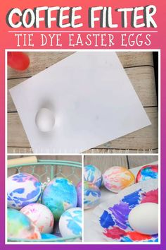 Use coffee filters and washable markers to make colorful tie dyed Easter eggs. Learn how to decorate Easter eggs with washable markers! Three easy ways to make Easter eggs result in vibrant watercolor like eggs! Tie Dyed Easter Eggs, Making Easter Eggs, Painting Eggs For Easter, Shaving Cream Easter Eggs, Cool Easter Eggs, Easter Arts And Crafts, Easter Crafts For Kids, Easter Activities For Preschool, Bunny Crafts