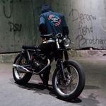 "faris on Instagram: ""Make your bike like brother #manners #mannersindonesia #rodaduasampetua #sukablaarrr #rideforpride #caferacer #bratstyle"""
