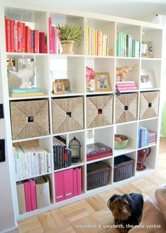 Home organisation that doubles as a room divider. Ala Ikea