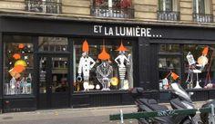 """Illustration Vitrophanie """"Lights in the city""""©Giriat pour """"Et La Lumière..."""" 284 bd Raspail 75014 Paris"""