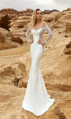 Oksana Mukha Wedding Dresses 2018 Amadea1 / http://www.deerpearlflowers.com/oksana-mukha-wedding-dresses-2018/2/