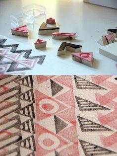 great stamp patterns. by moniquilla