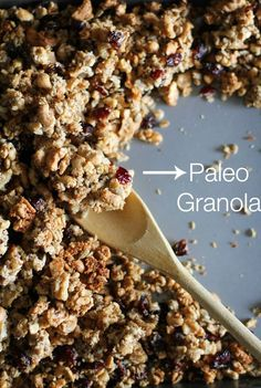 Extra lumpy coconut walnut cashew sunflower seed granola that happens to be paleo and vegan! Get a load of this cluster! Ain't no skirting the issue, my granola comes with a little junk in the tr…