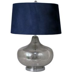 Great dark blue table lampshade.