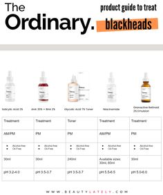 When it comes to ingredients that are effective at getting rid of stubborn blackheads, The Ordinary is a very effective, straightforward, and budget-friendly skincare line that offers some of my favorite products. The problem is, the brand can be so difficult to shop! Here's a simple guide to help you pick out the right products for your needs. Skin Care Routine Steps, Skin Routine, Oily Skin Care, Face Skin Care, Skin Care Regimen, Torsion Plate, The Ordinary Skincare Guide, The Ordinary Products For Blackheads, Haut Routine