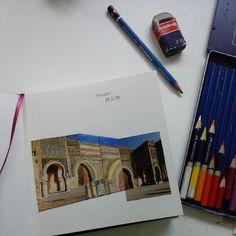 Marokko. #drawing #sketchbook #collage #pencil #colourpencil #Morocco