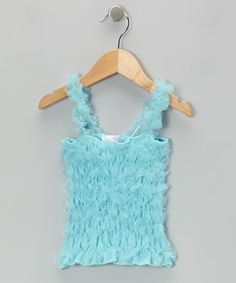 Take a look at this Turquoise Ruffle Tank - Infant, Toddler & Girls by Just Fab Girls on #zulily today!