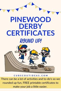 The Pinewood Derby is a much-anticipated favorite Cub Scout event! To help celebrate the Scouts and all their hard work on their cars, give them one of these free printable Pinewood Derby certificates! Lots of designs to choose from. Free Printable Certificates, Certificate Templates, Free Printables, Make Your Own Certificate, The Third Option, Award Names, Pinewood Derby Cars, Bee Crafts, Cub Scouts
