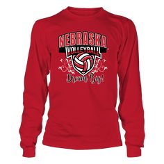 University Nebraska Husker Volleyball Dream Big! T-Shirt, *Officially Licensed University Nebraska Volleyball clothing and apparel *  Congratulations to the University of Nebraska Volleyball team on winning the 2017 NCAA Volleyball Championship. All it takes is to Dream Big, play with passion and heart and never give up. CLICK on the GREEN button for... The Nebraska Cornhuskers Collection, OFFICIAL MERCHANDISE  Available Products:          Gildan Long-Sleeve T-Shirt - $33.95 District Women's…