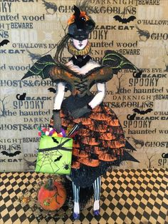 Bat Girl by JeanneMarie Ziegelman using Character Construction stamps by Catherine Moore.   - Mad tea party #2 - Paris flea #3,8