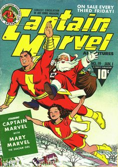 Captain Marvel Xmas by C.C. Beck