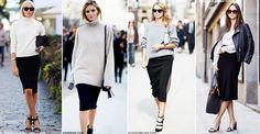 How To Make The Most Of Your Black Pencil Skirt | sheerluxe.com