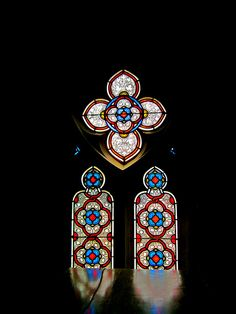 Stained glass windows in Chartres Cathedral, reflected on a coffin.  - Mary Vidal by APIstudyabroad, via Flickr