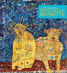 """© Kathy DeZarn Beynette, Married - Beynette's joyful, whimsical paintings are infused with her passion for animals, art, and the written word. Viewing them, one feels drawn into an unfolding story or conversation. """"Before I became a painter,"""" Beynette says, """"I wrote fiction and poetry, which probably explains my narrative approach to painting."""""""