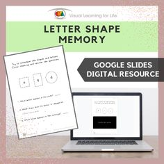 This digitally interactive resource is designed for use with Google Slides. This resource contains 10 slides in total. Answer sheets are included.The student must remember the shapes and the letters so that they will be able to answer the questions when the shapes and letters are covered up.