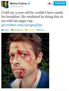 Misha Collins on Twitter [Oh my gosh, lol XD ]