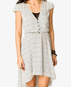 $27.80 Ditsy Heart High-Low Dress | FOREVER21 - 2022742740