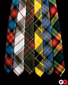 Plaid ties.