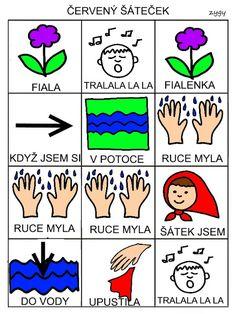 Pro Šíšu: Červený šátečku Montessori, Playing Cards, Education, Learning, Logos, Autism, Playing Card Games, Studying, Logo