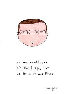 """Six eyes? """"third eye"""", Marc Johns"""
