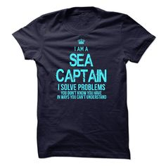 I am a Sea captain T-Shirts, Hoodies. SHOPPING NOW ==► Funny Tee Shirts