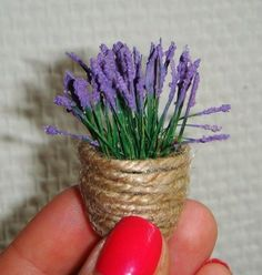 how to: mini lavender in a basket