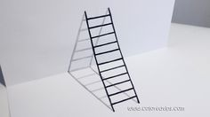 3D Ladder – How To Draw Ladder Optical Illusion