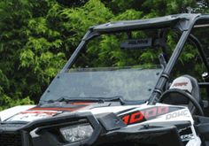 Super ATV Scratch Resistant Tinted Half Windshield - RZR XP 1000 / XP Turbo / S 1000 / 900 / S 900