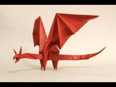 Origami diagrams and video instructions database. Learn how to make every kind of origami. From easy origami to super complex origami! Origami And Kirigami, Origami Rose, Paper Crafts Origami, Diy Paper, Paper Art, Origami Flowers, Origami Instructions Dragon, Easy Origami Dragon, Origami Tutorial